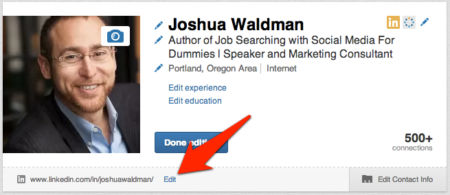 edit button next to URL-Joshua Waldman2